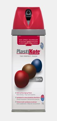 PlastiKote Twist and Spray Satin White 400ml
