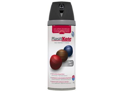 Plasti-kote Twist & Spray Matt Black 400ml