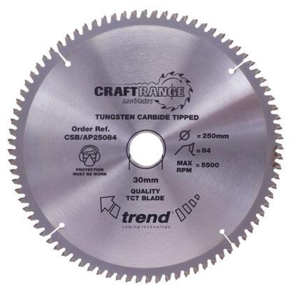 Trend Saw blade alloy or plastic 300mm x96 teeth x 30mm  : AP/300X96X30