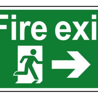 Scan Fire Exit Running Man Arrow Right - PVC 300 x 200mm