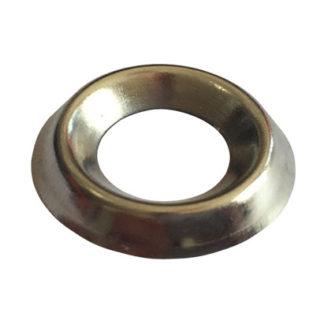 No.80 x 6 Gauge Screw Cup Brass Nickel Plate Finish
