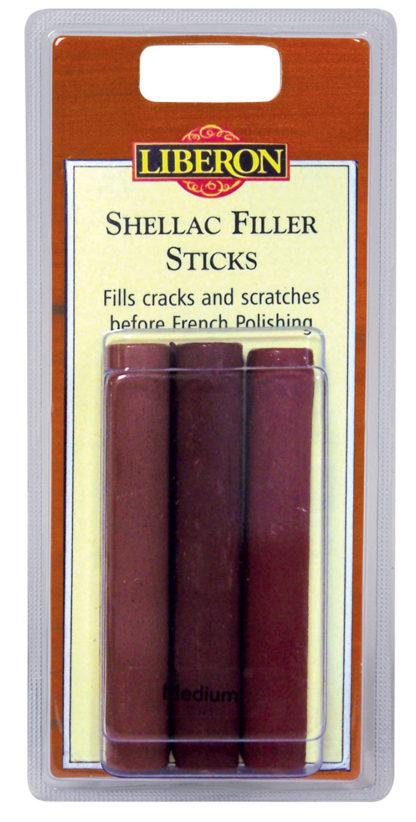 Liberon Shellac Filler Stick Dark  3 pk