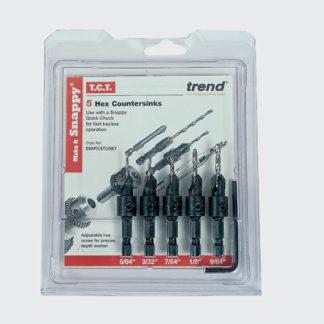 Trend Snappy 5 piece TCT Countersink Set  : SNAP/CSTC/SET