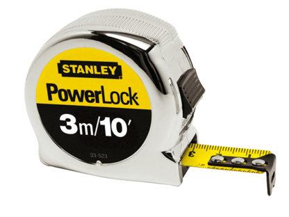 Stanley Tools Micro Powerlock Tape 3m / 10ft  (Width 19mm)