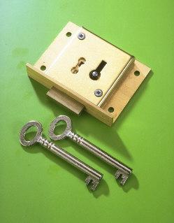 A & E Squire No.41 Brass Till Lock 50mm 4 Lever