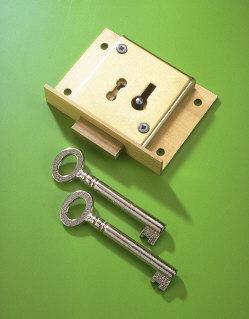 A & E Squire No.41 Brass Till Lock 65mm 2 Lever