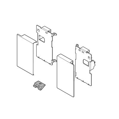 Blum Legrabox Inner Drawer Front Bracket, M Height (90.5 mm), left/right: ZI7.0MS0OG-M Grey