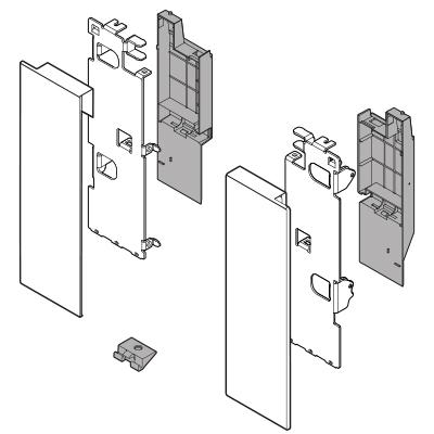 Blum Legrabox Inner Drawer Front Bracket, C Height (177 mm), left/right: ZI7.3CS0OG-M