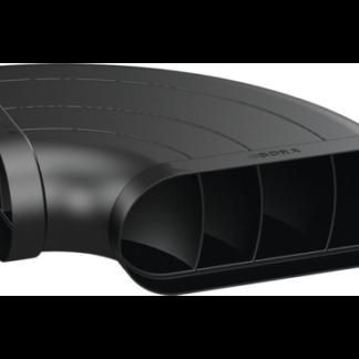 BORA Ecotube bend 90° Flat Horizontal Incl. Sealing Material