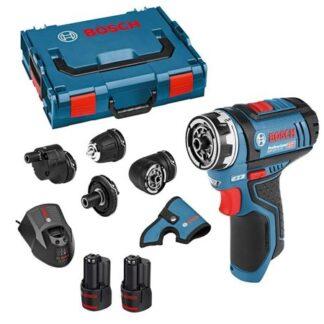 Bosch GSR 12V-15 FC Cordless Drill Driver Flexi Chuck 2 x 2.0ah