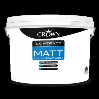 Crown Contract Matt Emulsion Paint White 10L