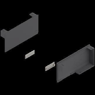 BLUM AVENTOS HK stay lift, cover cap set, left/right: 20K8000 Dark Grey