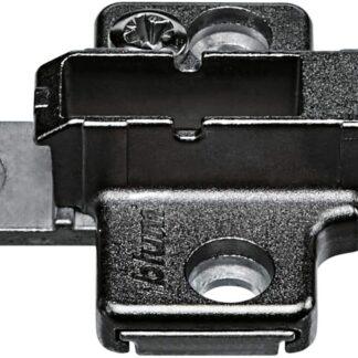 BLUM CLIP mounting plate, cruciform, 6 mm, zinc, system screws, HA: two-part: 175H9160 Onyx Black