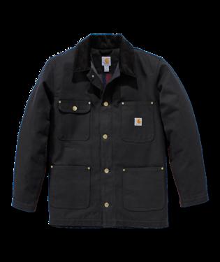 Carhartt 103825 Firm Duck Chore Coat Black
