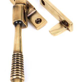 Anvil Reeded Night Vent Locking Fastener Aged Brass