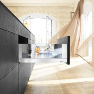 Blum Legrabox Blumotion Drawer Kits Stainless Steel - Glass Sides