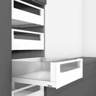 Blum Legrabox Blumotion Drawer Kits Silk White - Glass Sides