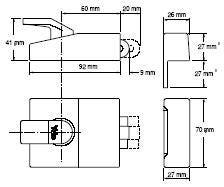 Yale Roller Nightlatch 60mm DMG Satin Chrome